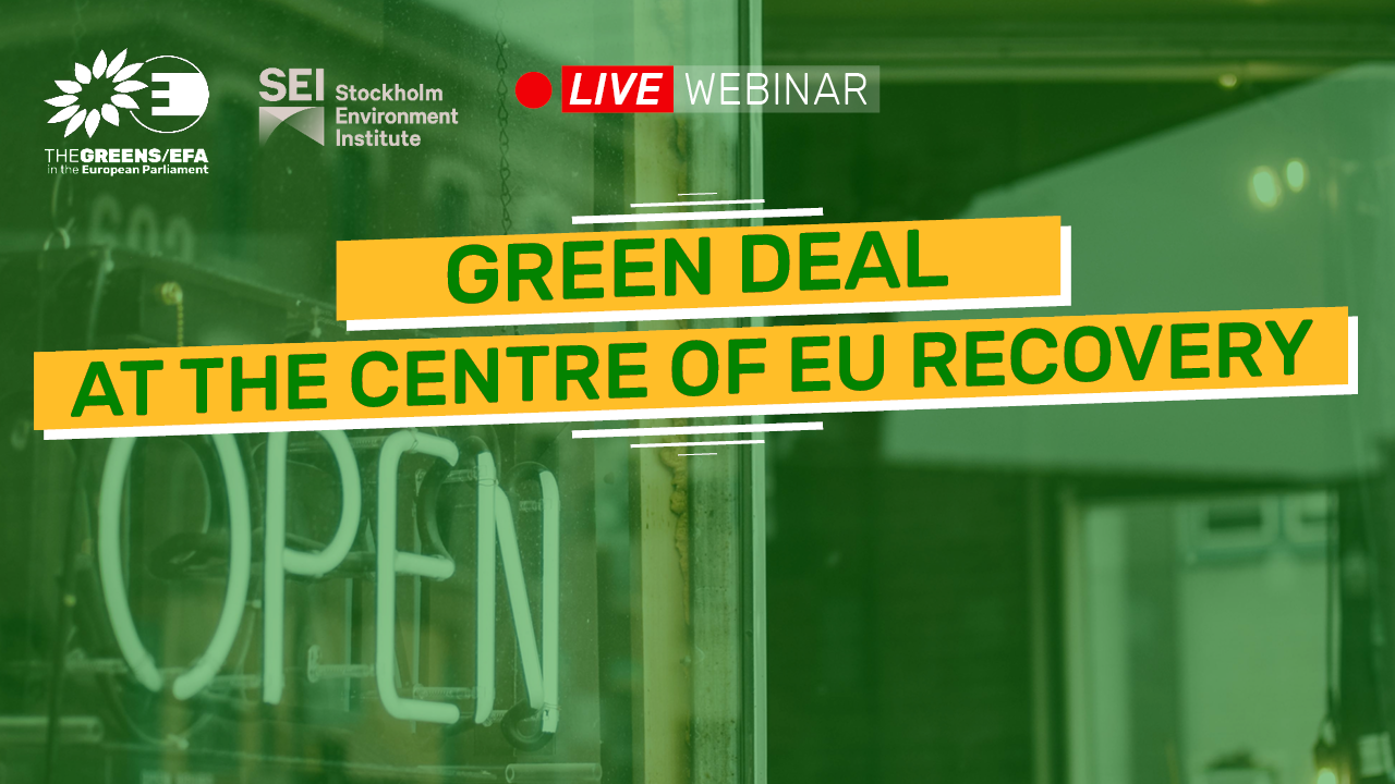 Webinar: The Green Deal at the centre of EU recovery